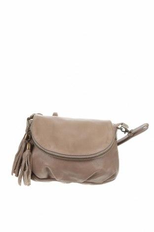 Γυναικεία τσάντα, Χρώμα  Μπέζ, Γνήσιο δέρμα, Τιμή 28,06€