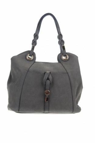 Γυναικεία τσάντα, Χρώμα Γκρί, Δερματίνη, Τιμή 16,89€