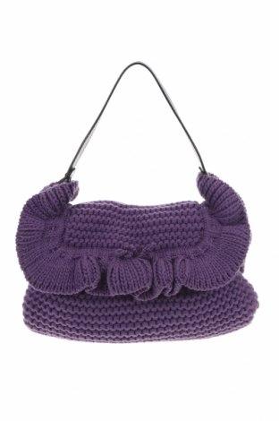 Дамска чанта Fendi, Цвят Лилав, Текстил, естествена кожа, Цена 629,20лв.