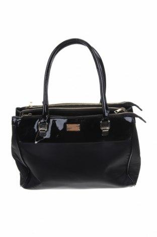 Дамска чанта Forever New, Цвят Черен, Текстил, еко кожа, Цена 23,21лв.