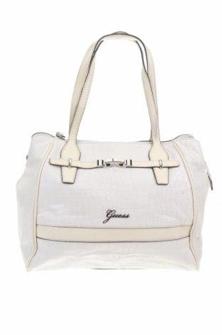 Дамска чанта Guess, Цвят Екрю, Еко кожа, Цена 81,80лв.