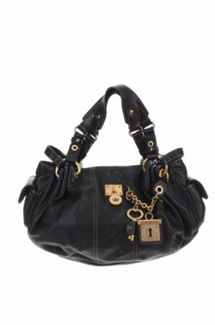 Дамска чанта Juicy Couture, Цвят Черен, Естествена кожа, Цена 92,77лв.