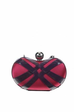 Дамска чанта Karen Millen, Цвят Розов, Текстил, естествена кожа, Цена 88,20лв.