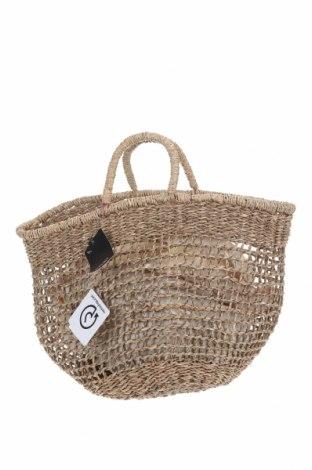 Дамска чанта Mango, Цвят Бежов, Други тъкани, Цена 51,75лв.