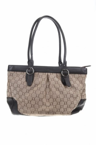 Дамска чанта Oroton, Цвят Бежов, Текстил, естествена кожа, Цена 74,55лв.
