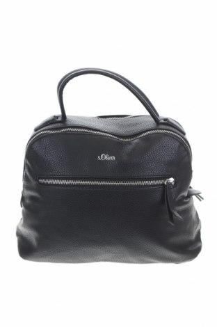 Дамска чанта S.Oliver, Цвят Черен, Еко кожа, Цена 54,02лв.