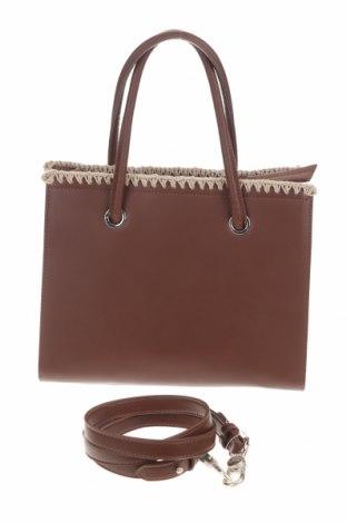 Γυναικεία τσάντα TWINSET, Χρώμα Καφέ, Δερματίνη, Τιμή 73,07€