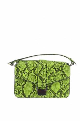 Дамска чанта Zara, Цвят Зелен, Еко кожа, Цена 32,25лв.