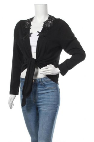 Дамска жилетка, Размер XL, Цвят Черен, 50% вискоза, 50% памук, Цена 9,19лв.