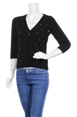 Дамска жилетка H&M, Размер XS, Цвят Черен, 65% вискоза, 35% полиамид, Цена 20,25лв.