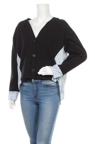 Дамска жилетка Zara, Размер L, Цвят Черен, 52% памук, 48% полиестер, Цена 19,61лв.