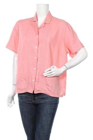 Дамска риза Charter Club, Размер XL, Цвят Розов, Лен, Цена 6,62лв.