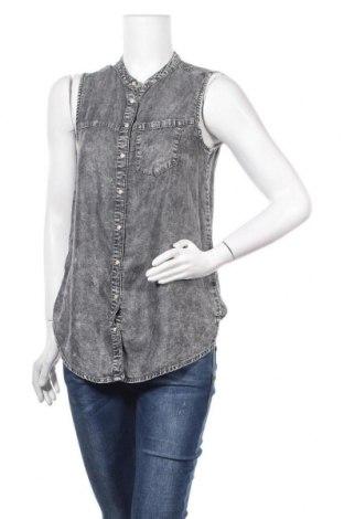 Дамска риза Denim&Co., Размер M, Цвят Сив, Цена 8,09лв.