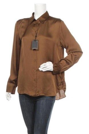 Дамска риза Massimo Dutti, Размер L, Цвят Кафяв, 75% вискоза, 25% лиосел, Цена 31,15лв.