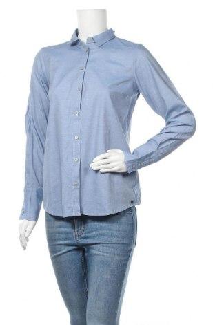 Дамска риза Numph, Размер S, Цвят Син, 100% памук, Цена 33,82лв.