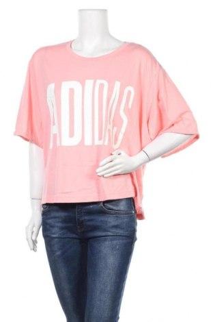 Γυναικεία αθλητική μπλούζα Adidas, Μέγεθος 3XL, Χρώμα Ρόζ , 50% πολυεστέρας, 25% βαμβάκι, 25% βισκόζη, Τιμή 26,68€