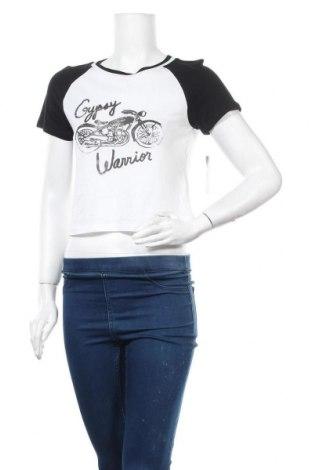 Дамска тениска, Размер S, Цвят Бял, 60% памук, 40% модал, Цена 6,93лв.