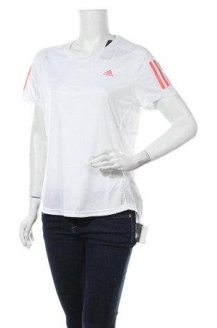 Γυναικείο t-shirt Adidas, Μέγεθος L, Χρώμα Λευκό, Πολυεστέρας, Τιμή 26,68€