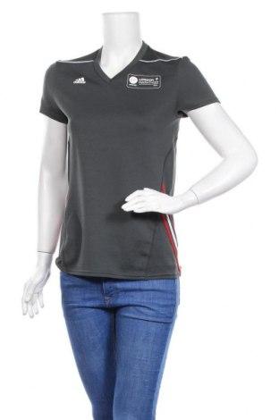Дамска тениска Adidas, Размер S, Цвят Сив, 100% полиестер, Цена 23,10лв.