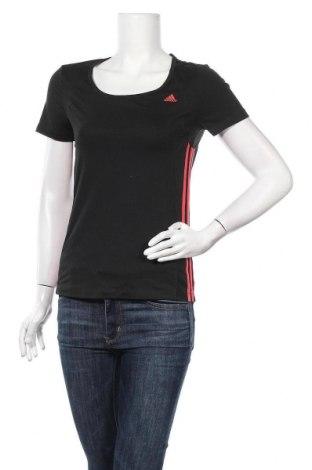 Γυναικείο t-shirt Adidas, Μέγεθος S, Χρώμα Μαύρο, 88% πολυεστέρας, 12% ελαστάνη, Τιμή 12,34€
