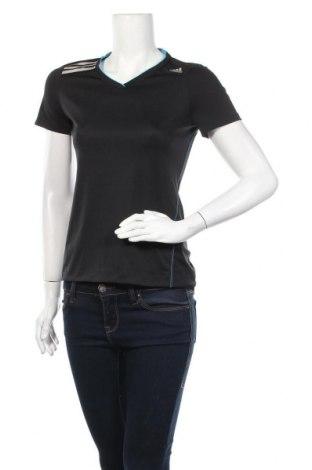 Γυναικείο t-shirt Adidas, Μέγεθος S, Χρώμα Μαύρο, Πολυεστέρας, Τιμή 10,49€