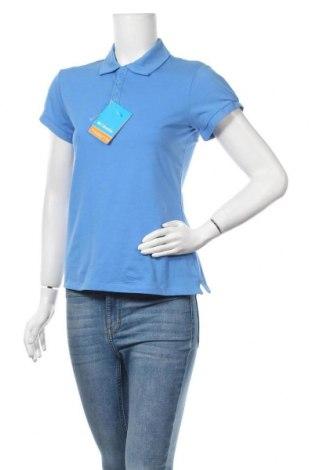 Дамска тениска Columbia, Размер S, Цвят Син, 54% памук, 37% полиестер, 9% еластан, Цена 59,00лв.