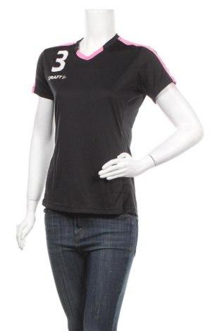 Дамска тениска Craft, Размер M, Цвят Черен, Полиестер, Цена 4,54лв.