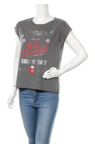 Дамска тениска Cubus, Размер M, Цвят Сив, Цена 8,09лв.