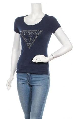 Дамска тениска Guess, Размер XS, Цвят Син, 95% памук, 5% еластан, Цена 44,10лв.
