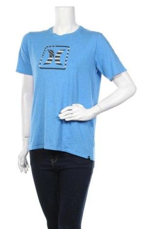 Дамска тениска Hurley, Размер XL, Цвят Син, 50% памук, 50% полиестер, Цена 28,56лв.