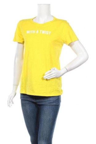 Дамска тениска J.Crew, Размер M, Цвят Жълт, Памук, Цена 26,25лв.