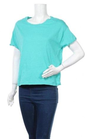 Дамска тениска Mango, Размер S, Цвят Син, Памук, Цена 27,00лв.
