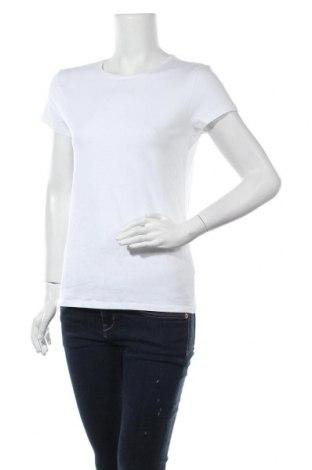 Γυναικείο t-shirt Massimo Dutti, Μέγεθος L, Χρώμα Λευκό, 92% βαμβάκι, 8% ελαστάνη, Τιμή 11,37€
