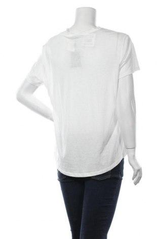 Дамска тениска Massimo Dutti, Размер XL, Цвят Бял, 67% лиосел, 33% памук, Цена 20,30лв.
