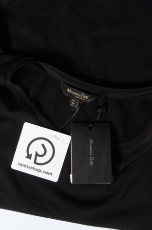 Дамска тениска Massimo Dutti, Размер L, Цвят Черен, 92% памук, 8% еластан, Цена 14,75лв.