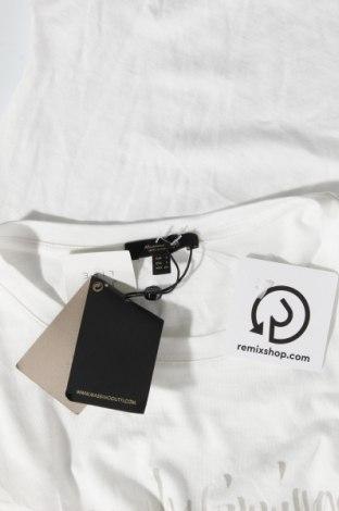 Дамска тениска Massimo Dutti, Размер S, Цвят Бял, 67% лиосел, 33% памук, Цена 20,30лв.