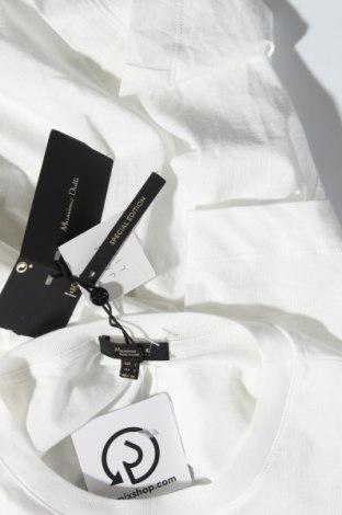 Дамска тениска Massimo Dutti, Размер M, Цвят Бял, Памук, Цена 13,20лв.
