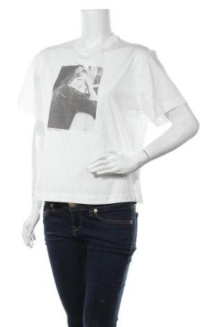 Дамска тениска Massimo Dutti, Размер S, Цвят Бял, Памук, Цена 11,00лв.