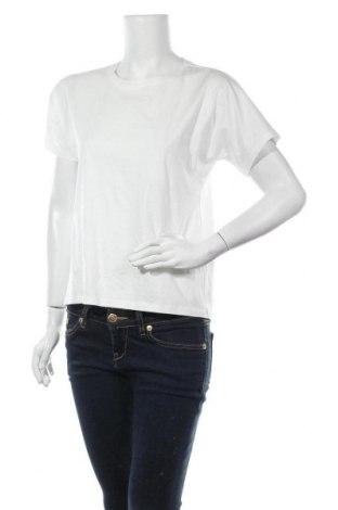 Дамска тениска Massimo Dutti, Размер XS, Цвят Бял, Памук, Цена 14,75лв.