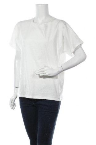 Дамска тениска Massimo Dutti, Размер L, Цвят Бял, Памук, Цена 18,20лв.