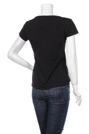 Дамска тениска Massimo Dutti, Размер M, Цвят Черен, 92% памук, 8% еластан, Цена 17,16лв.