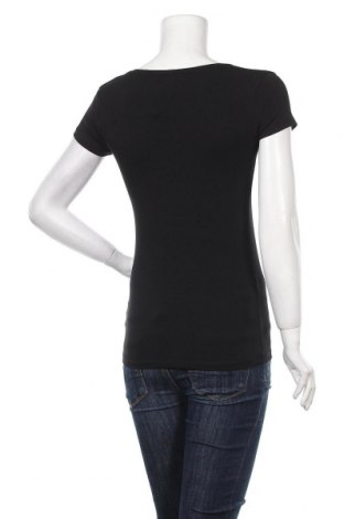 Дамска тениска Massimo Dutti, Размер S, Цвят Черен, 92% памук, 8% еластан, Цена 20,65лв.