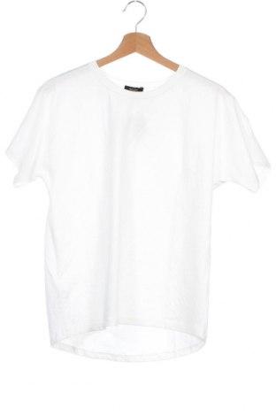 Дамска тениска Massimo Dutti, Размер XS, Цвят Бял, Памук, Цена 19,60лв.