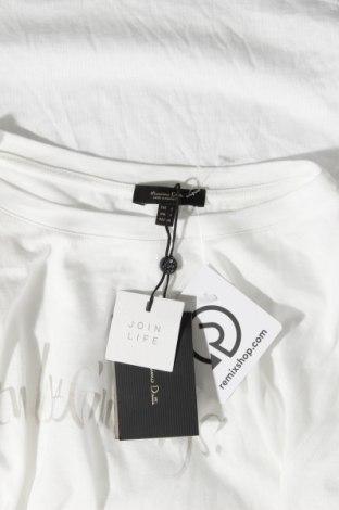 Дамска тениска Massimo Dutti, Размер S, Цвят Бял, 67% лиосел, 33% памук, Цена 17,40лв.