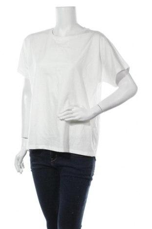 Дамска тениска Massimo Dutti, Размер L, Цвят Бял, Памук, Цена 14,75лв.