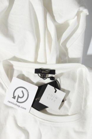 Дамска тениска Massimo Dutti, Размер L, Цвят Бял, Памук, Цена 20,65лв.