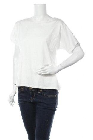 Дамска тениска Massimo Dutti, Размер M, Цвят Бял, Памук, Цена 18,20лв.