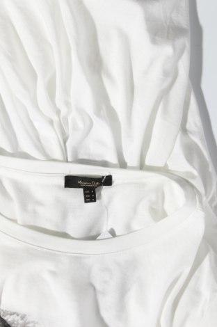 Дамска тениска Massimo Dutti, Размер M, Цвят Бял, 67% лиосел, 33% памук, Цена 40,50лв.