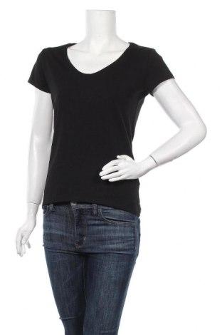 Дамска тениска Massimo Dutti, Размер M, Цвят Черен, 92% памук, 8% еластан, Цена 14,75лв.
