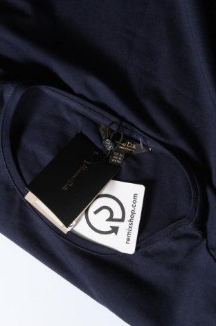 Дамска тениска Massimo Dutti, Размер XL, Цвят Син, 92% памук, 8% еластан, Цена 17,70лв.